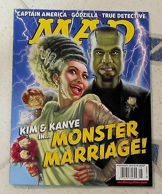 MAD Magazine MONSTER MARRIAGE KIM & KAYNE August 2014 CAPTAIN AMERICA Godzilla