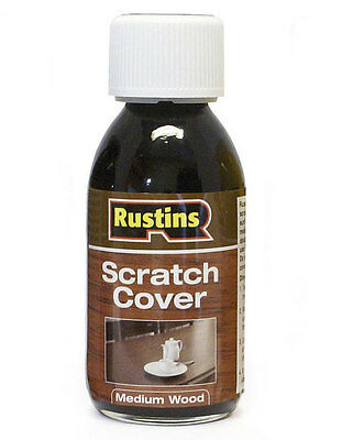 Rustins Scratch Cover for Medium Wood 125ml Polishes and Masks Surface Scratches