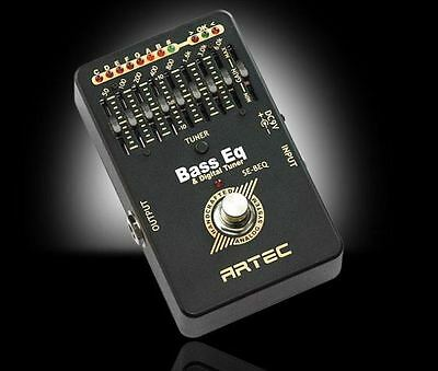 ARTEC - 8 Band Bass EQ Effects Pedal And Tuner In One - Artec SE-BEQ