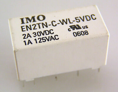 IMO EN2TN-C-WL-5VDC Coil 2A 30VDC Relay Twin Coil Latching DPCO x4 MBF023a
