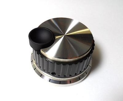 Deluxe Spinner Knob with Finger Divot 2 1/8  Diameter for VFO or Roller Inductor