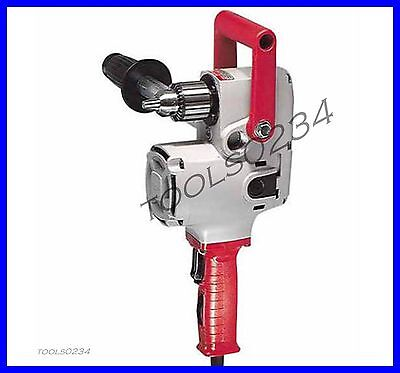 "Milwaukee 1676-6 1/2"" Hole-Hawg 2 Speed Reversing Right Angle Drill w/ Case"