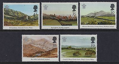 1994 Gb Paintings By Prince Charles Set Of 5 Fine Mint Mnh/muh Sg1810-Sg1814