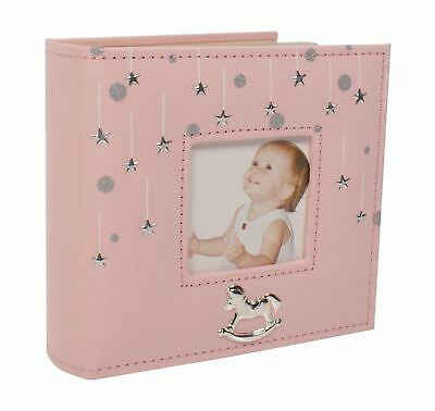 "Baby Girl Stars Photo Album Gift 80 x 6"" x 4"" 70100"