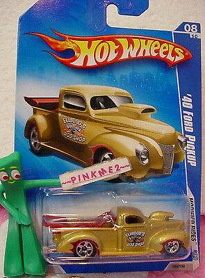 2009 Hot Wheels '40 FORD PICKUP Truck #164~Gold; 5sp~Elwood's Rod~Modified Rides