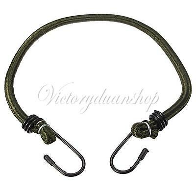"""45cm 18"""" Elasticated Luggage Wrapped Rope Cord Strap Bicycle Hooks Stretch Tie"""