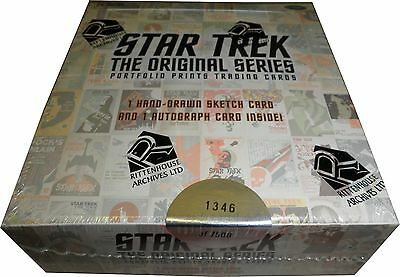 Star Trek TOS Portfolio Prints Factory Sealed Trading Card Box Autograph Sketch