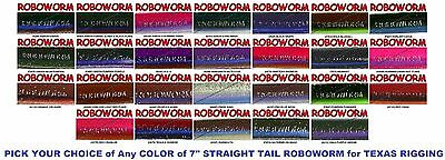 Roboworm Straight Tail 7 Inch Handpoured Worms SL 8 Pack Pick from 26 Colors