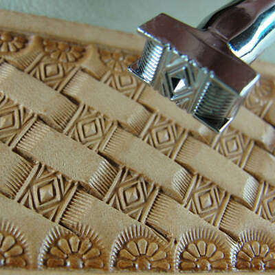 Pro Crafters Series - Diamond Basket Weave Stamp (Leather Stamping Tool)