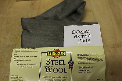 Liberon Steel Wool Grade 0000 Ultra Fine Choice Of 1/4,1,2,5 Or 10 Metre