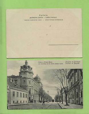 Serbia/Yugoslavia Belgrade old and new Palace's postcard unused