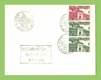 Vietnam 1959 multifranked cover with cachet