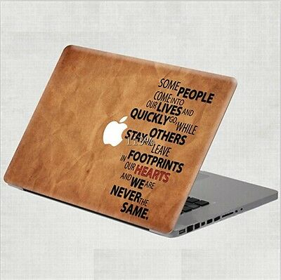 """T1 New Simple Words Vinyl Decal Skin Sticker Protector For MacBook Pro 13"""""""