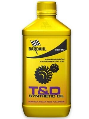 Olio Auto Bardahl T&D Synthetic Oil 75W90 Cambio Differenziale - 1 litro lt