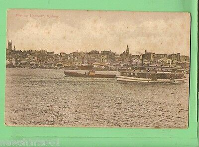 #D.   Shipping Postcard - Ferry In Harbour