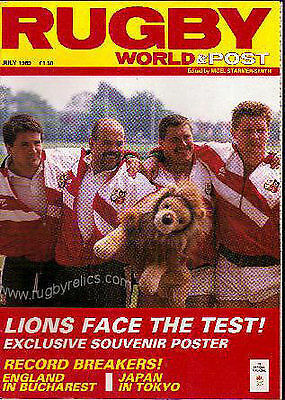 British Lions Tour Of Australia 1989 Rugby World Magazine July Tour Coverage