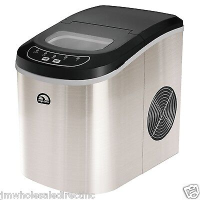 New ! IGLOO Compact Ice Maker  ICE105  Producing 26 lbs of ice per a day Chrom