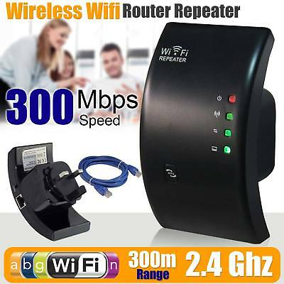 Wireless 300Mbps N 802.11 AP Wifi Range Router Extender Repeater Booster WPS UK