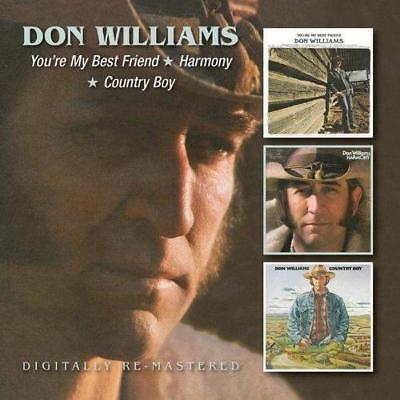 Don Williams - You're My Best Friend / Harmony / Country Boy (NEW 2 x CD)