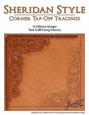 Sheridan Style Corner Tap-Off Tracings - 88 Leather Patterns by Jim Linnell