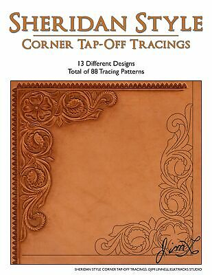 Sheridan Style Corner Tap-Off Tracings - 88 Tracing Patterns (Leather Patterns)