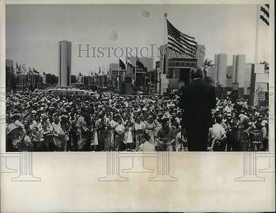 1937 Press Photo Huge Crowd Dallas Gathers For International Fair Tom Connally