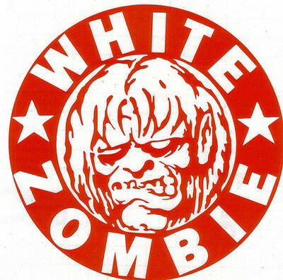 White Zombie Monster Peel And Rub On Red Vinyl Decal !