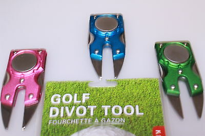 Compact Pitch Repairer Divot Tool Ball Marker with Integral Spike Wrench & File