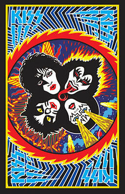 KISS ROCK AND ROLL OVER BLACKLIGHT POSTER NEW  !