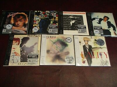 David Bowie Rare Japan Replica's 7 Obi Cd Silver Sticker Edition 2007 Set