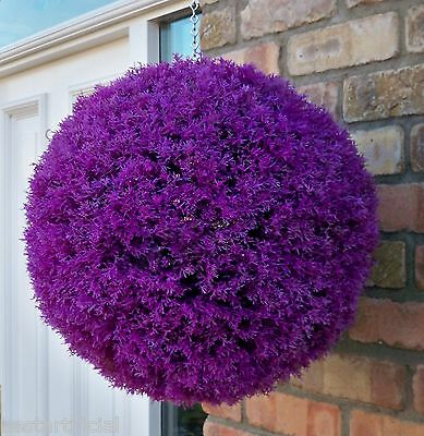Best Artificial Purple Violet Heather Topiary Balls Hanging Basket Grass Plant