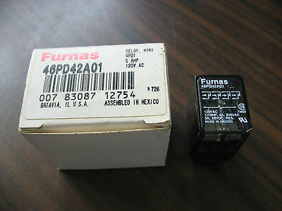 New Furnas 46PD42A01 Cube Relay 4PDT, 4 Amp, 120 VAC