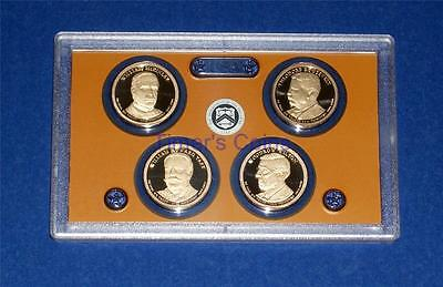 2013 S PROOF Presidential Dollar Set- Four Coins-No Box/COA-Gem Proof - IN STOCK