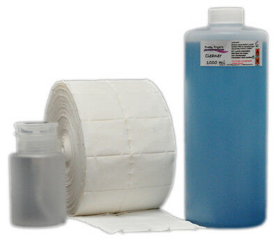 1000ml Nail Cleaner Cleaner 500 Wipes + Pump Bottle