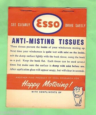 #d1. Esso Anti-Misting Tissues, Unused