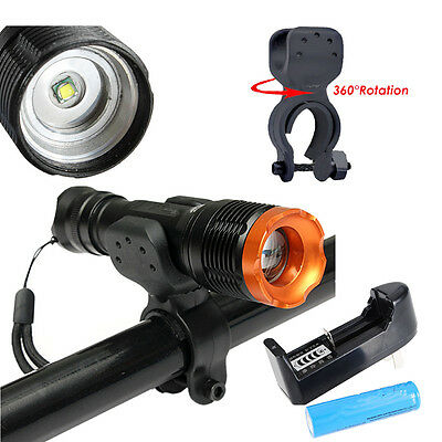 2000LM CREE XM-L T6 LED Cycling Bicycle Head Flashlight Front Light Lamp+Mount