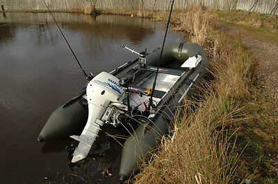 BISON MARINE OLIVE GREEN INFLATABLE FISHING SPORTS AIR RIB BOAT 13ft