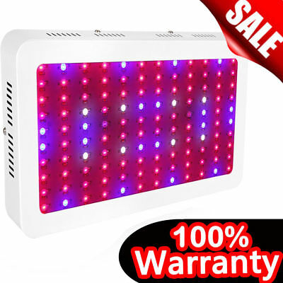 1200W LED Grow Light Hydro Full Spectrum Vegs Flower Indoor Plant Lamp Panel