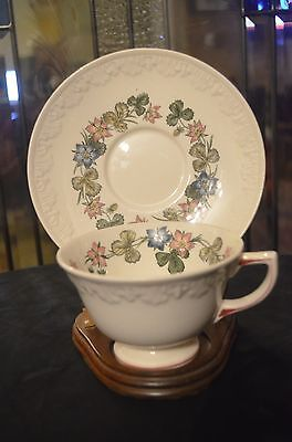 Wedgwood China~PEMBROKE T428 CORINTHIAN Cup and Saucer