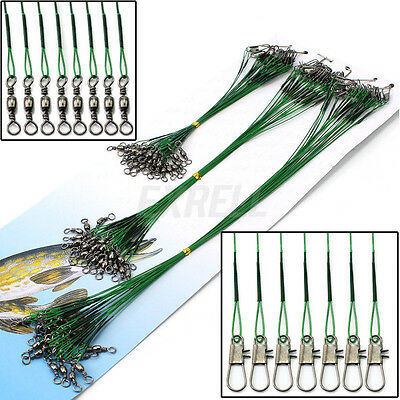 New 72x Fishing Lures Trace Wire Leader Steel Spinner Spinning Practical ex1l