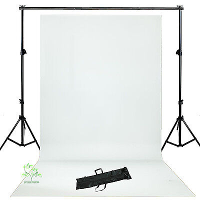 Photo Lighting Studio  White Backdrop Background Support Stand Kit  New UK