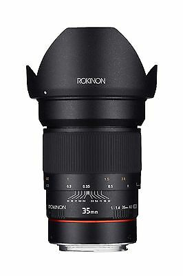Rokinon 35mm F1.4 Wide Angle Lens for Canon EF or Nikon with Built-in AE Chip