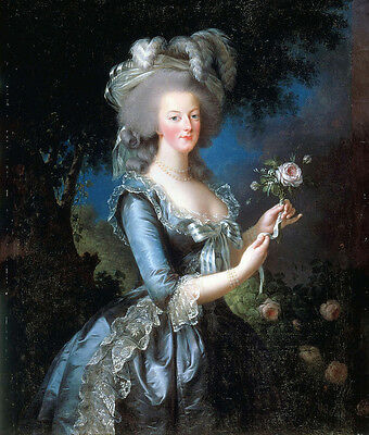 """Oil painting nice young noble lady portait holding roses flowers cavnas 24""""x36"""""""