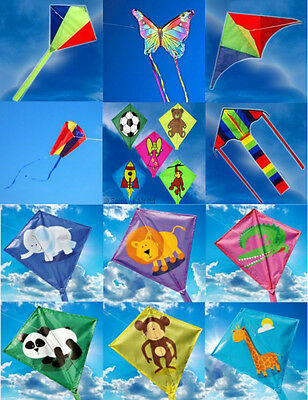 Childrens Single Line Mini Kites, Delta, Diamond, Butterfly, Sled