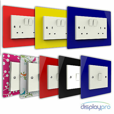 Single, Double Light Switch Surround Hygienic Plastic Plug Socket Finger Plate