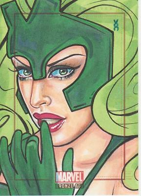 Marvel Bronze Age -  Color Sketch Card by O'Connell - Enchantress