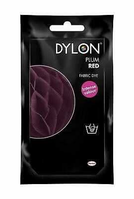 PLUM RED DYLON HAND WASH FABRIC CLOTHES DYE 50g TEXTILE PERMANENT COLOUR