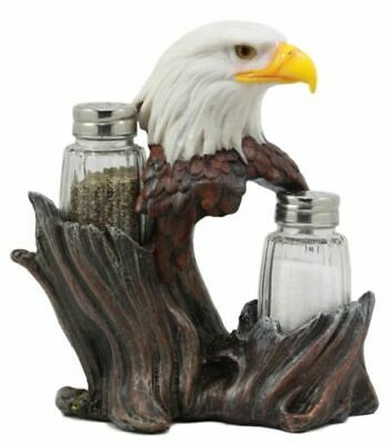 American Bald Eagle Freedom Salt and Pepper Shakers Holder Gift Decor Figurine