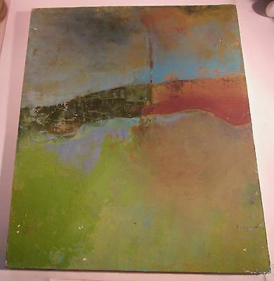 Abstract Oil Painting on Canvas by Maine Artist SUSAN TUREEN, Late 1990's