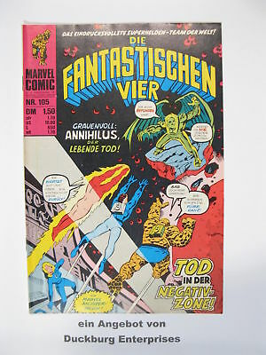 Fantastische Vier Nr. 105  Marvel Williams im Zustand ( 1-2) 50192